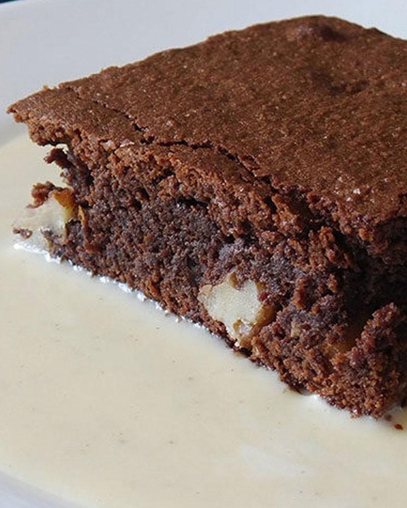 Brownie et sa crème anglaise