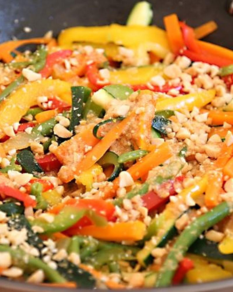 Wok de légumes croquants & Tofu