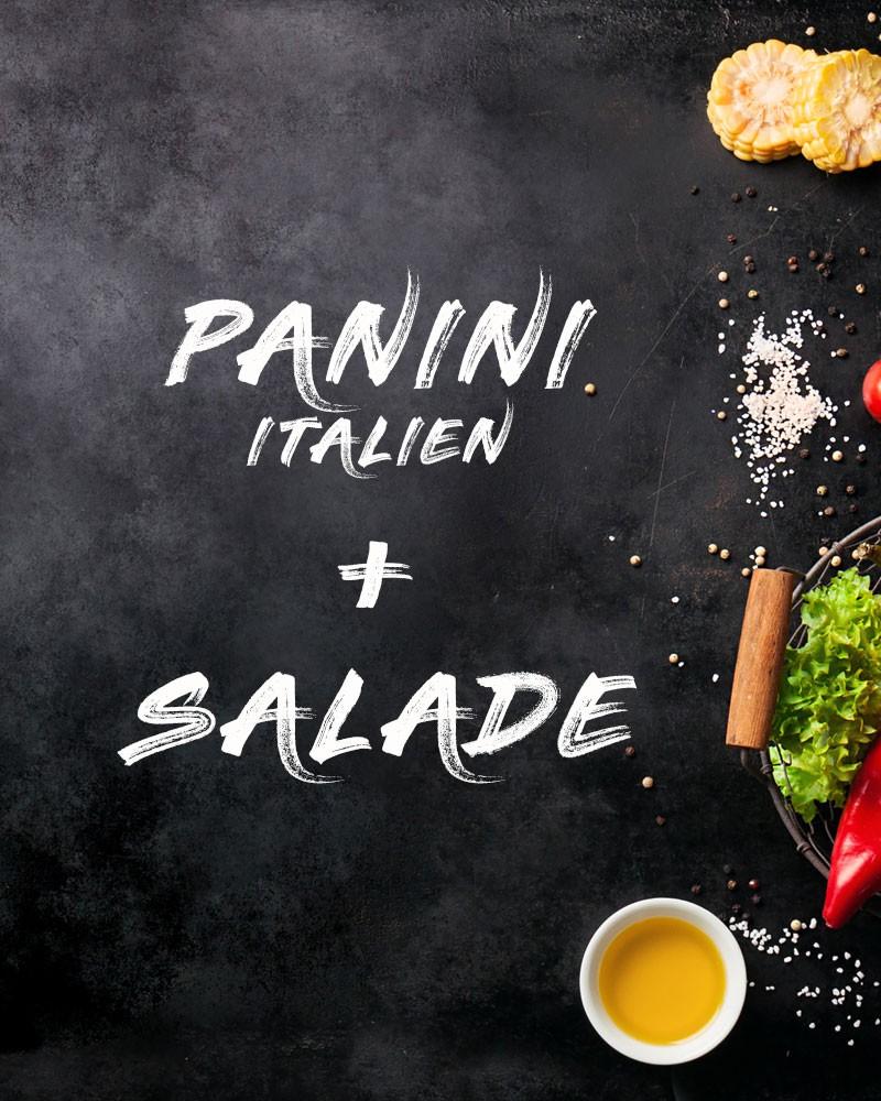 Panini à l'italienne + Salade